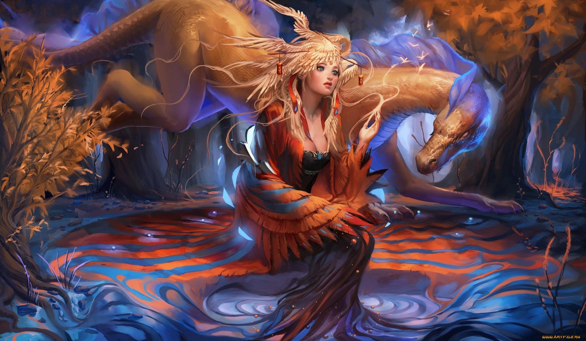 Мистические существа картинки фэнтези